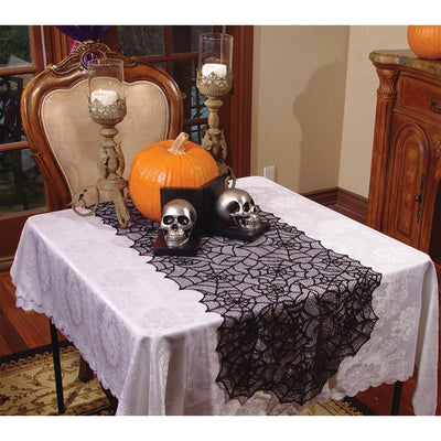 Underwraps Lace Spider Web Table Runner