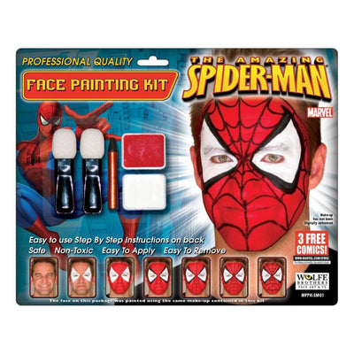 Morris Costumes Spiderman Makeup Kit Wolfe Bro