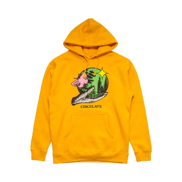 PERFECT WORLD HOODY - GOLD