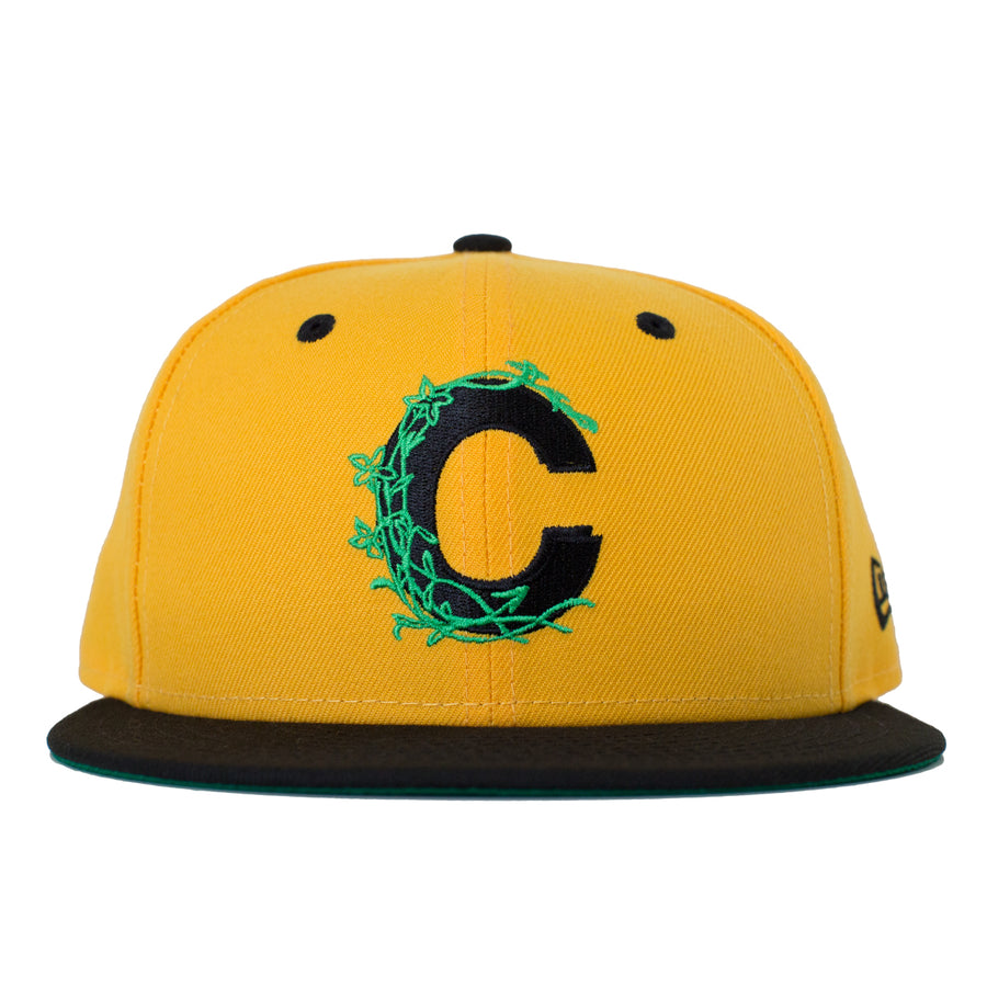 Logo Vine Fitted New Era Hat - Yellow