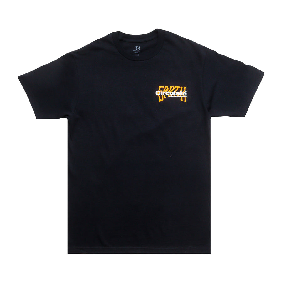 RECIRCULATE S/S T-SHIRT - BLACK