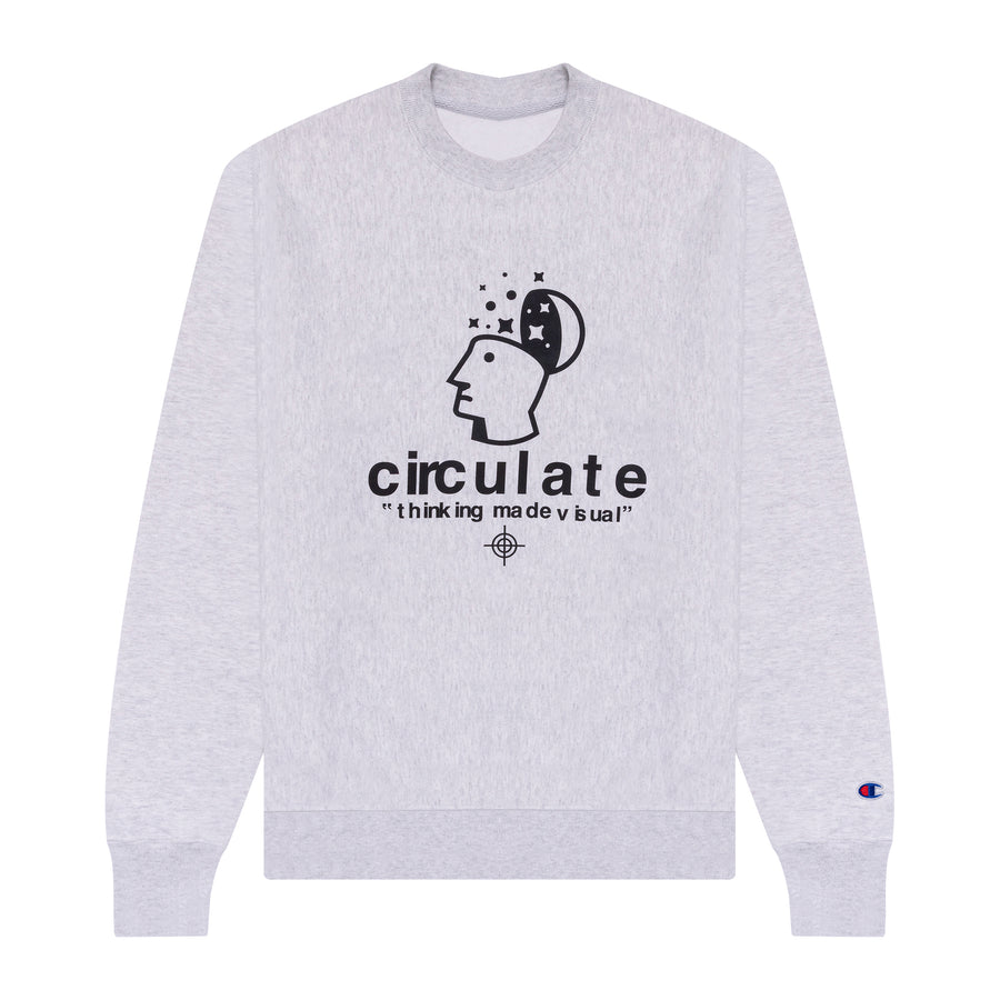 Thinking Made Visual Crewneck - Heather