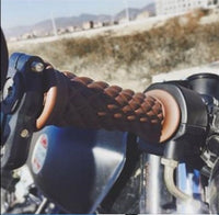 "7/8"" Motorcycle Handlebar Grip, Sillcone For Cafe Racer Clubman Custom"