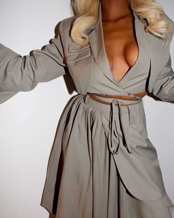 Celine Crop Wrap Suit Jacket