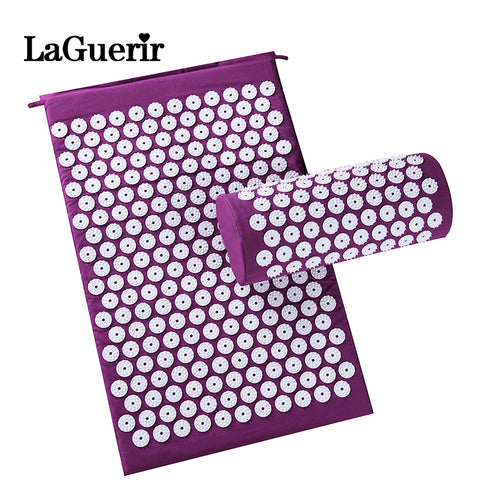 Cushion Mat; Shakti Massager; Acupressure Mat; Body Pain Acupuncture Spike Yoga Mat with Pillow