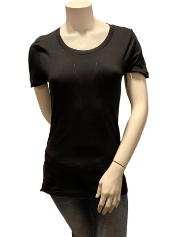 Women's Brand Addax Black T-Shirt