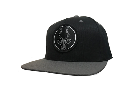 Black with Grey Brim Brand Addax Snap Back