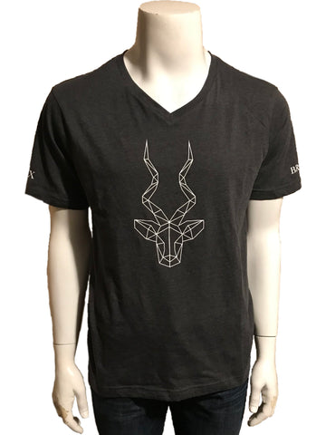 Men's Brand Addax Grey V-Neck T-Shirt