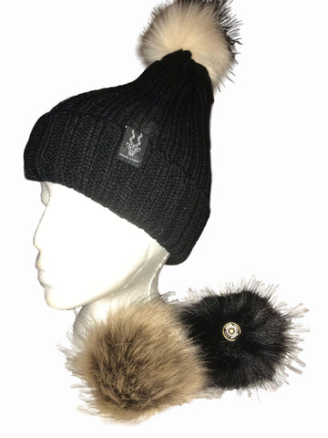 Brand Addax Interchangable Pom Beanie
