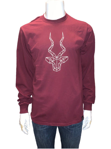 Men's Brand Addax Maroon Long Sleeve