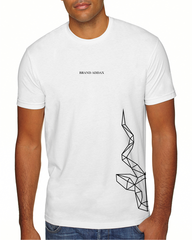 Men's Brand Addax White T-Shirt