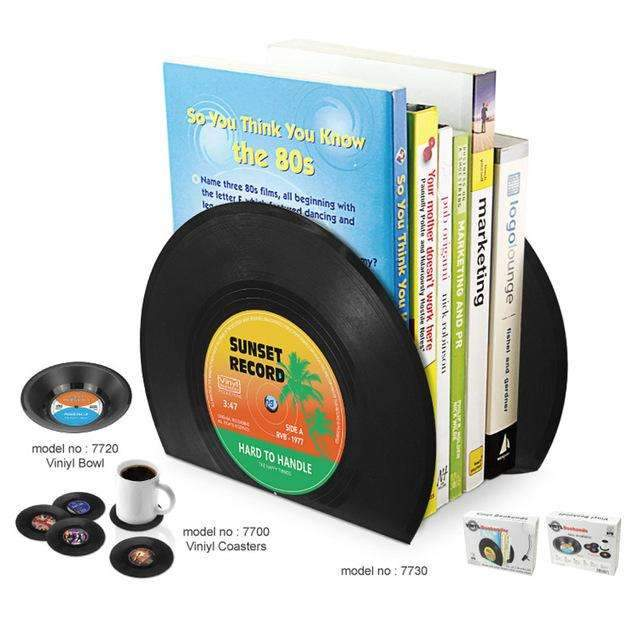 2 X Book Holder Shelves In Creative Vinyl Record Shape