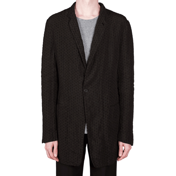 Perforated One Button Jacket