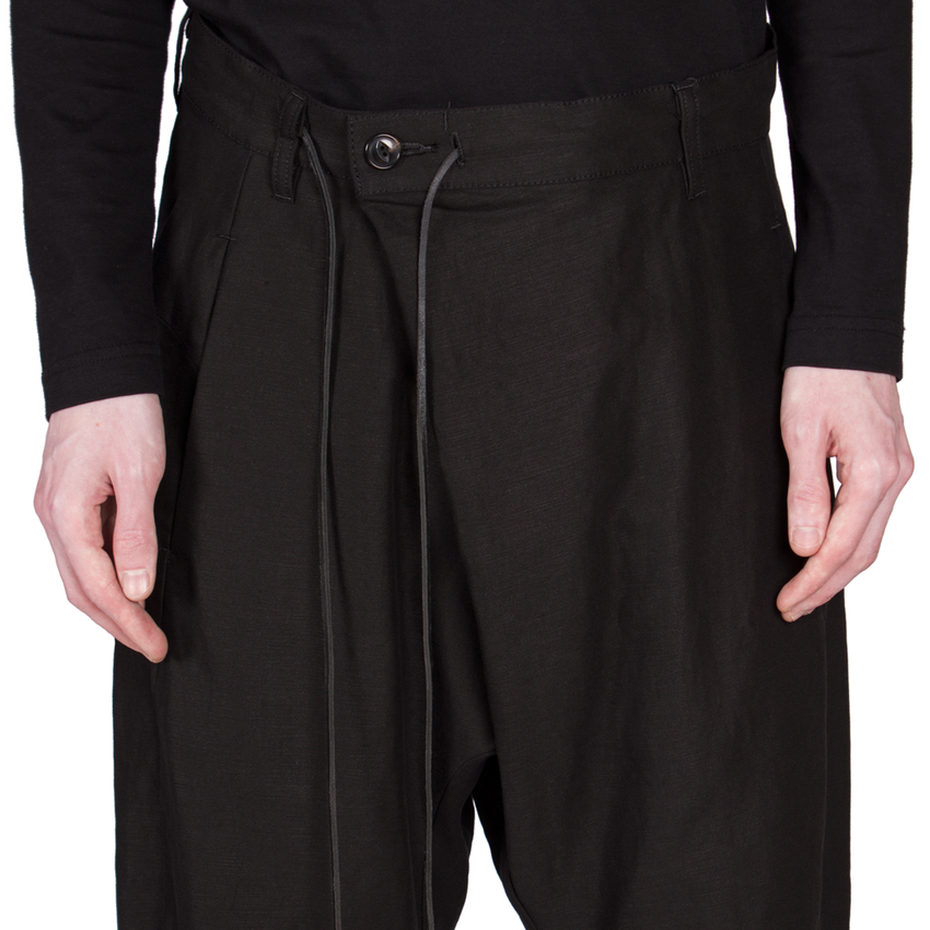 Fold-Over Cropped Trousers