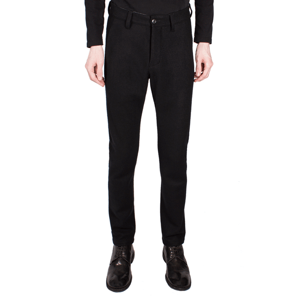 Wool-Cashmere Slim Trousers