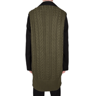 Knit Panel Coat by Ffixxed