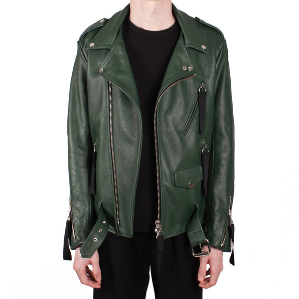 Double-Rider Leather Jacket