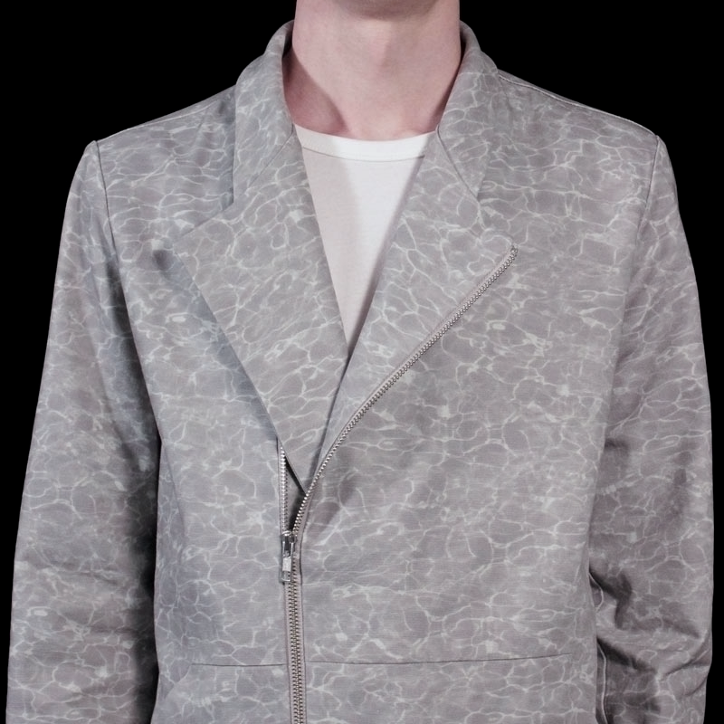 Printed Zip-Up Jacket by Stephan Schneider