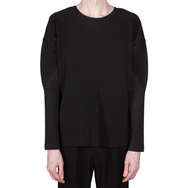 Pleated Long-Sleeve Top