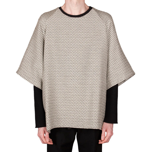 Basket-Weave Oversized Top