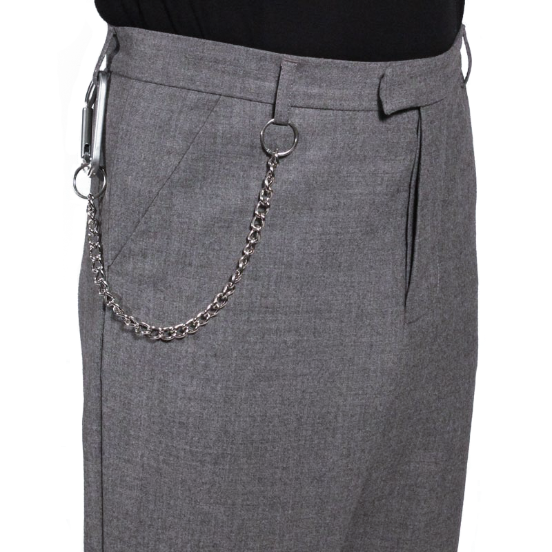 Cropped Chain Trousers by Matthew Miller
