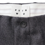 Curved Leg Trousers by Peir Wu