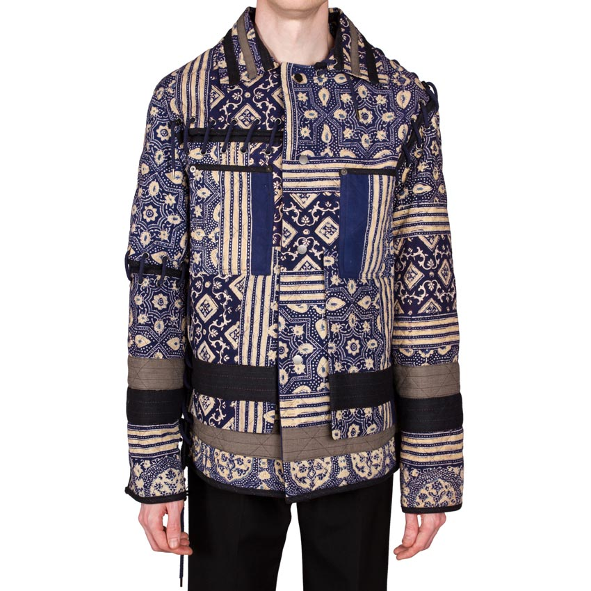 Print Diamond Quilt Jacket