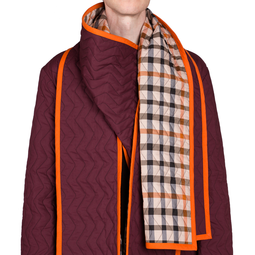 Showpiece Quilted Scarf Coat