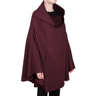 Sweaterponcho (Bordeaux)