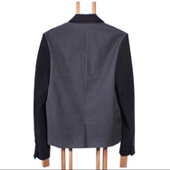 Material-Mix Jacket by Ute Ploier