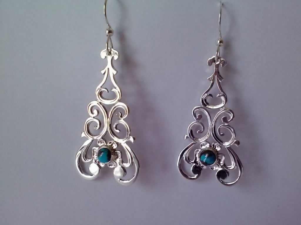 Carlton Jamon Zuni Lace Collection, Silver Earrings