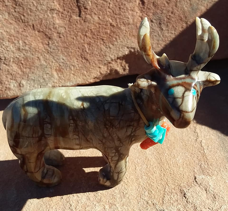 Picasso Marble Deer Carving