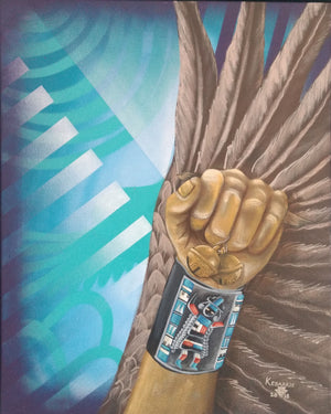"""Medicine Wing"" Painting by Keith Edaakie and Leanne Lee"