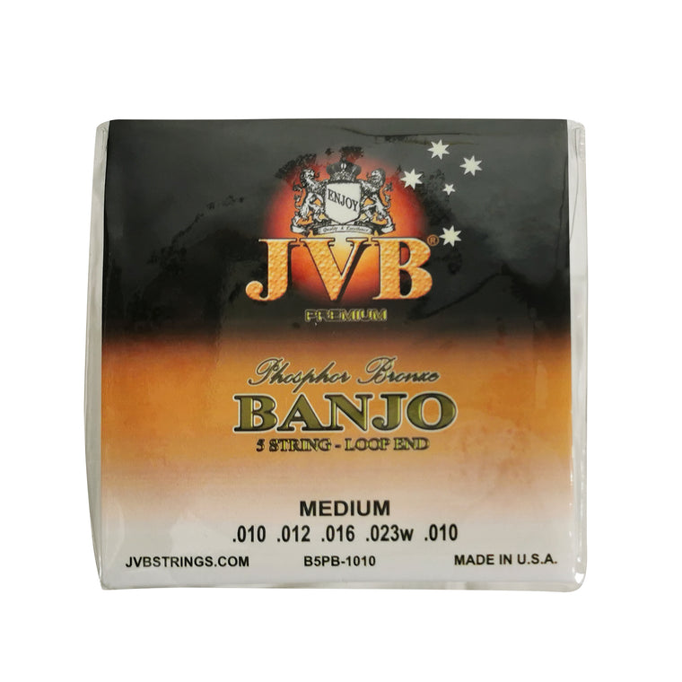 JVB Phosphor Bronze Banjo Strings 10 - 23