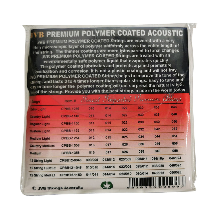 JVB Polymer Coated 12 String Acoustic Strings 10 - 48
