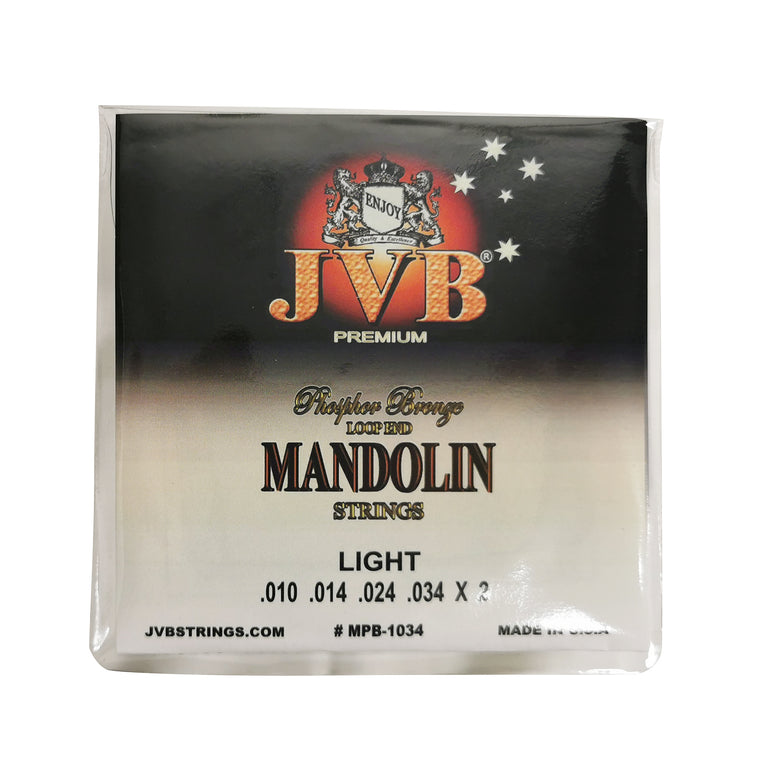 JVB Phosphor Bronze Mandolin Strings 10 - 34