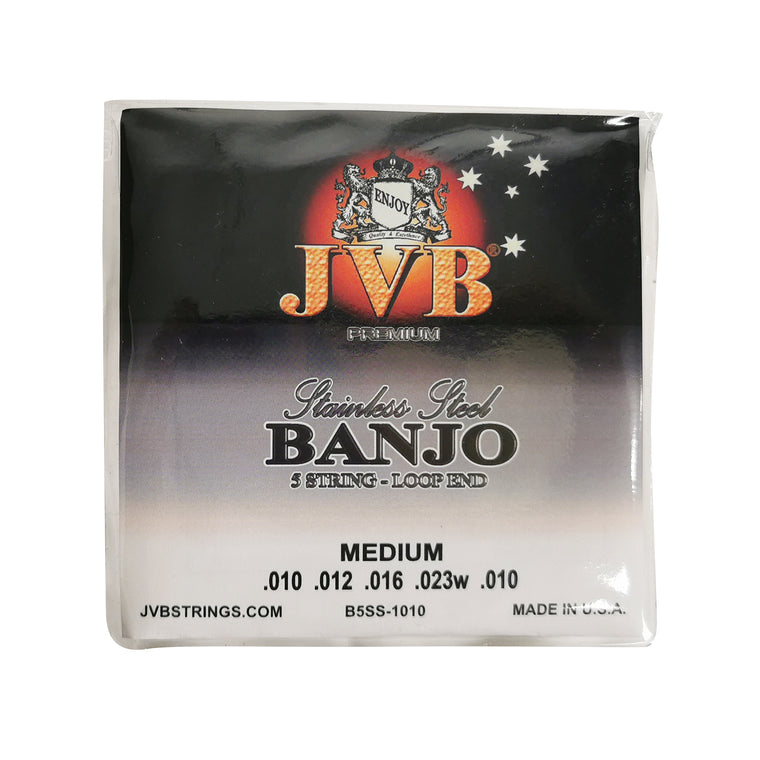 JVB Stainless Steel Banjo Strings 10 - 23