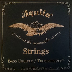 Aquila Thunder Black 4-String Bass Uke String Set