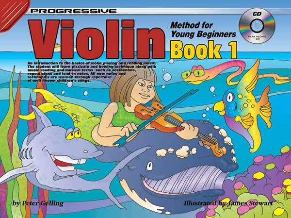 Progressive Violin Method Book 1 for Young Beginners Book/CD