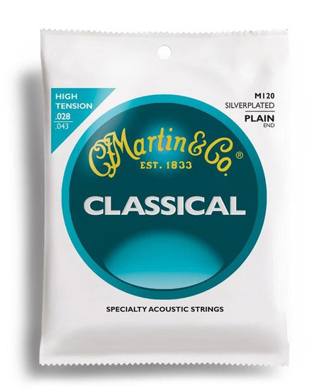 Martin Classical Nylon/Silver Plain End String Set (28-43)