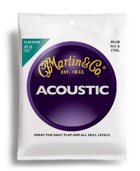 Martin Traditional 92/8 Phosphor Bronze Silk & Steel Guitar String Set (11.5-47)