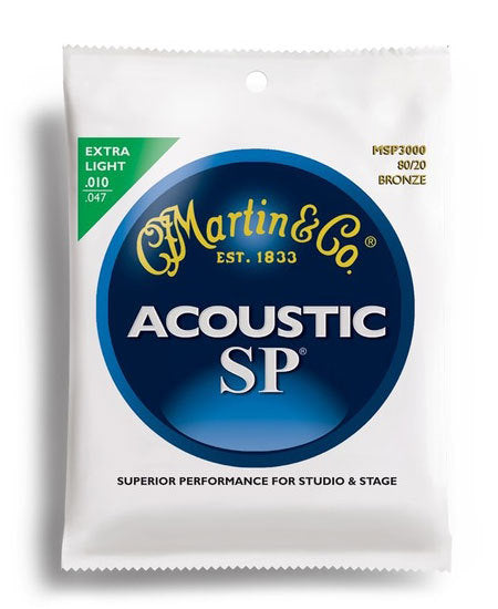 Martin SP 80/20 Bronze Extra Light Guitar String Set (10-47)