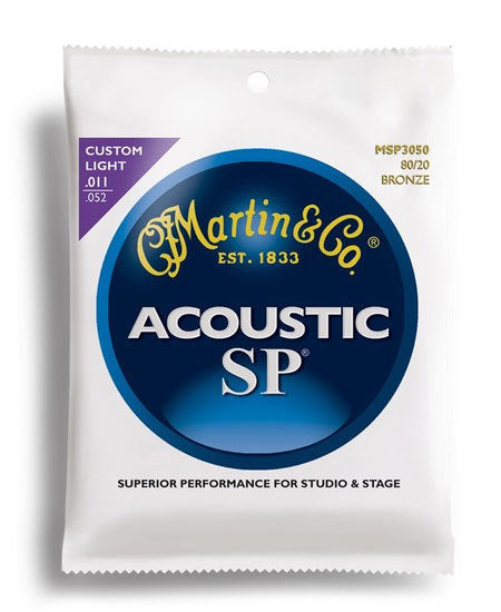Martin SP 80/20 Bronze Custom Light Guitar String Set (11-52)