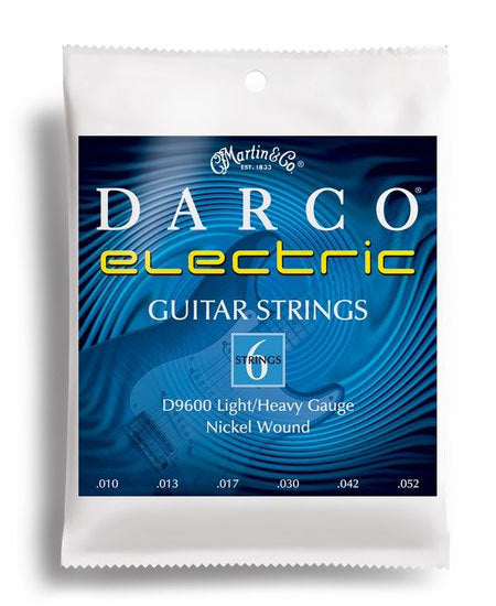 Darco Electric Guitar Light/Heavy Gauge String Set (10-52)