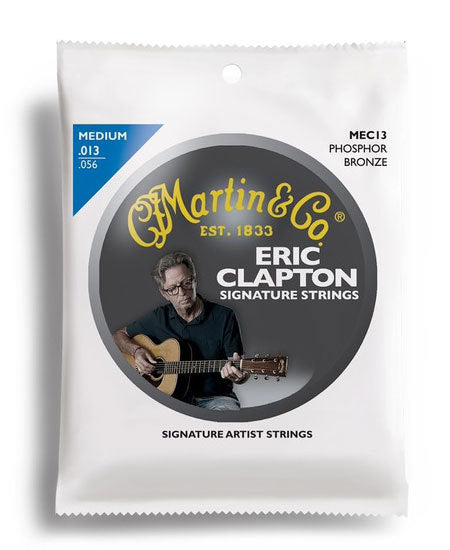 Martin Eric Clapton Strings 92/8 Phosphor Bronze Medium Guitar String Set (13-56)