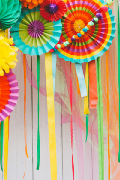 colorful balloon backdrop