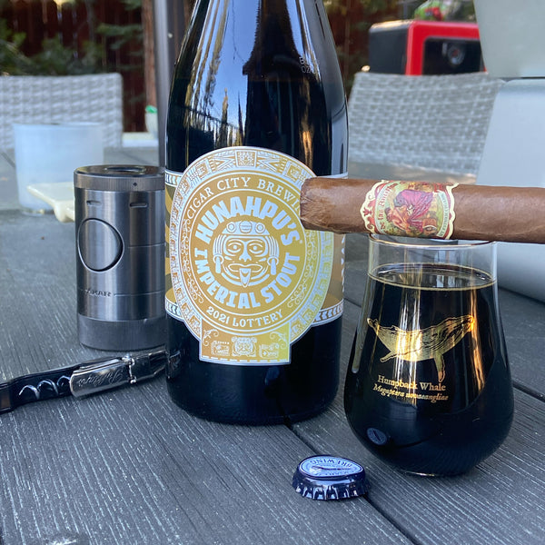 Cigars and Hunahpu's Imperial Stout