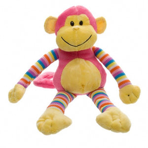 Milo Monkey Pink Plush Teddy
