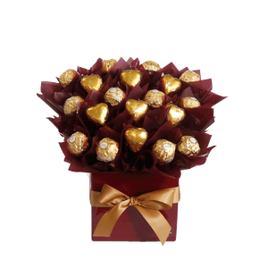 Chocolate Ferrero Heart Bouquet Hamper Gift