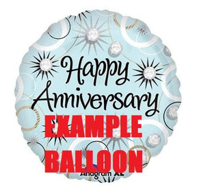 "BALLOON - Large Colourful Helium 17"" Balloon Example Picture"